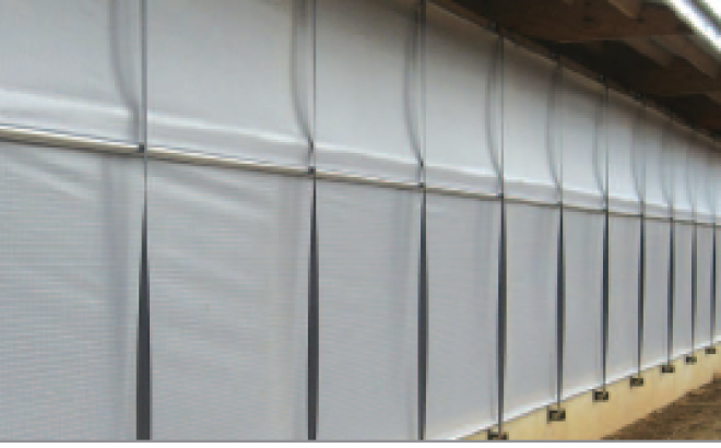 Autovent Curtain System State-of-the-art ventilation for high sidewall dairy barns.