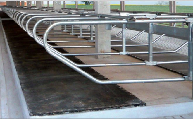 Sofmat system is a durable and easy to install bedding system that integrates with the GEA free-stall mounting system.